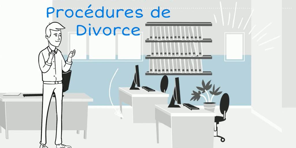 La procédure de divorce en vidéo